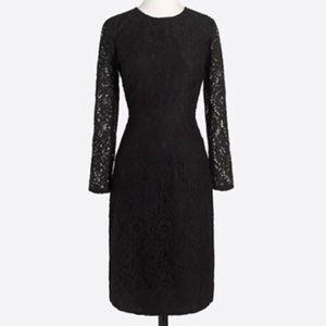 Lace Black Dress J Crew Shift LBD